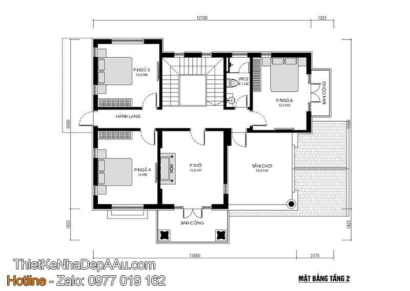 Cách bố trí phân chia phòng công năng và nội thất biệt thự 2 tầng