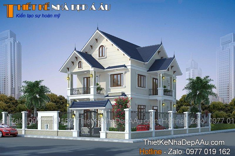 Ý tưởng thiết kế biệt thự 2 tầng mái thái 4 phòng ngủ 110m2