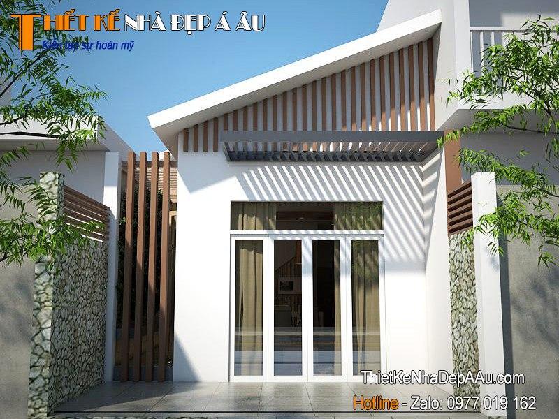 mẫu nhà mái chéo kiến trúc hiện đại