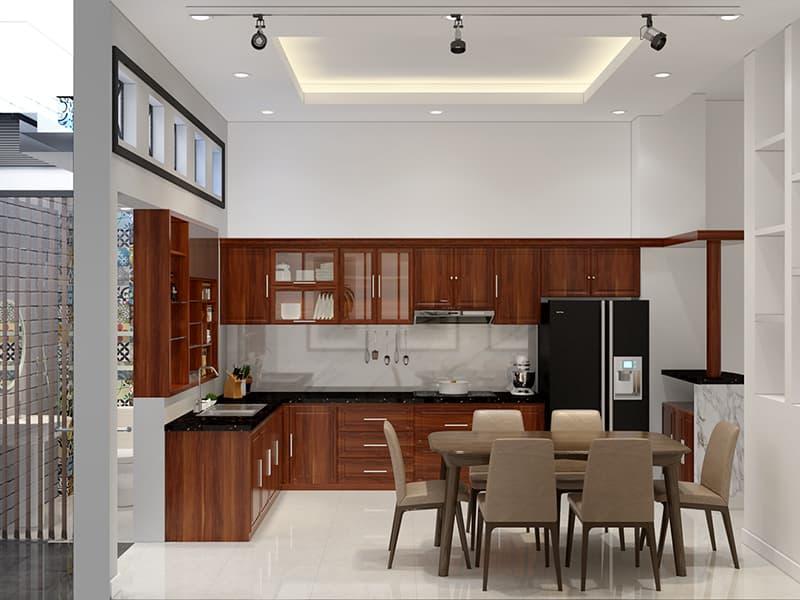 không gian nội thất nhà phố