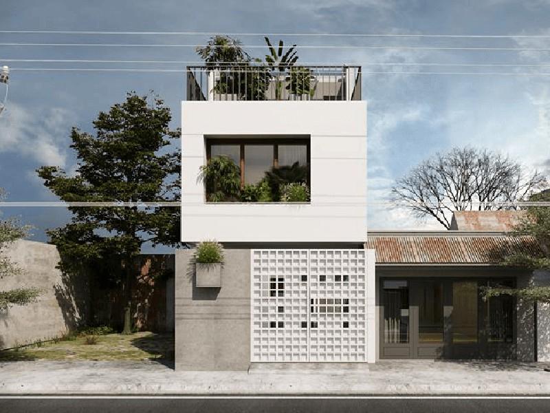 Thiết kế nhà phố 2 tầng 5x15m