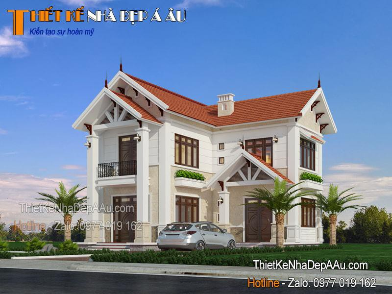 Nhà mái thái chữ L đẹp