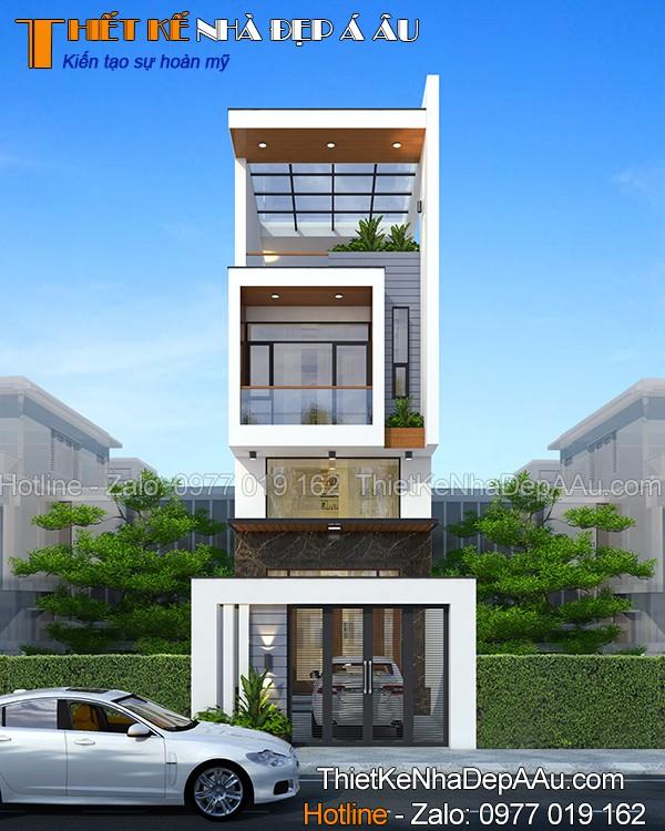 Công trình nhà phố đẹp được thực hiện bởi đội ngũ KTS Á Âu