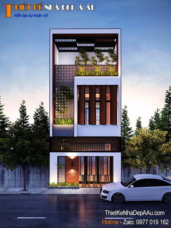 thiết kế nhà lô phố hài hòa thiên nhiên