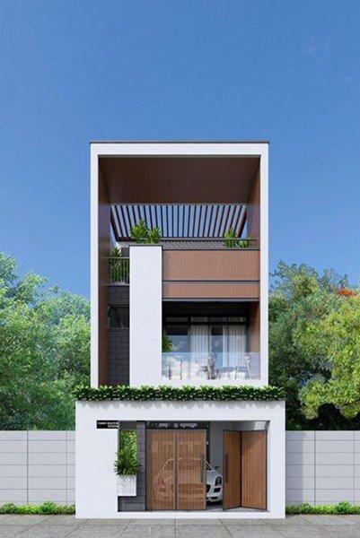 mẫu thiết kế nhà 2 tầng 3 phòng ngủ 5x20m