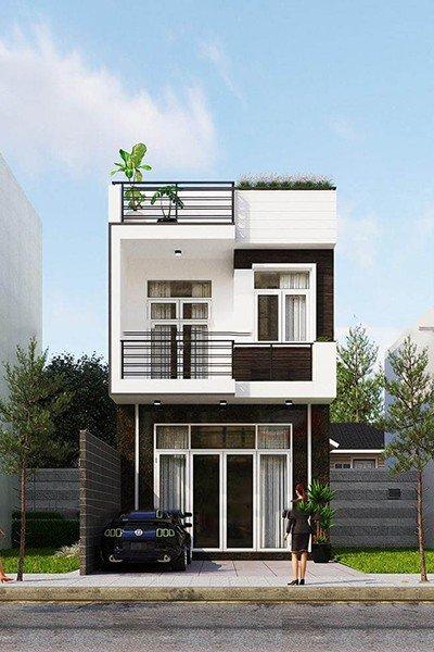 Bản vẽ thiết kế nhà phố 2 tầng đẹp