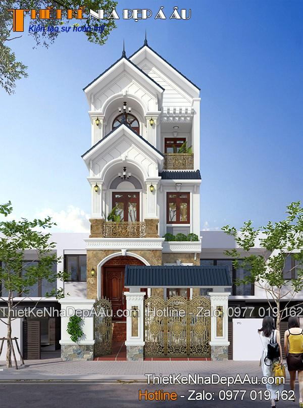 Thiết kế nhà đẹp Á Âu sở hữu đơn giá thiết kế tốt nhất thị trường