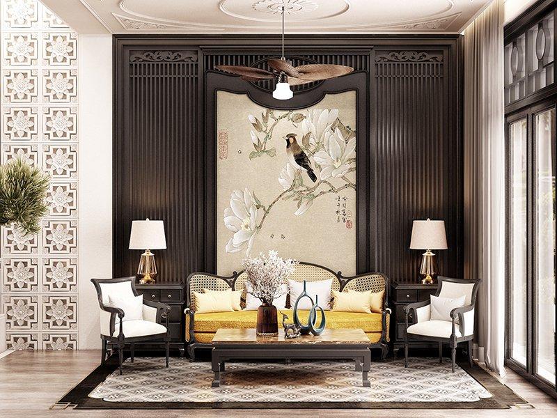 Thiết kế nội thất biệt thự phong cách Indochine