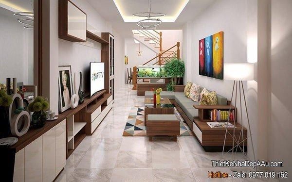 trang trí nội thất nhà ống mặt tiền 3m