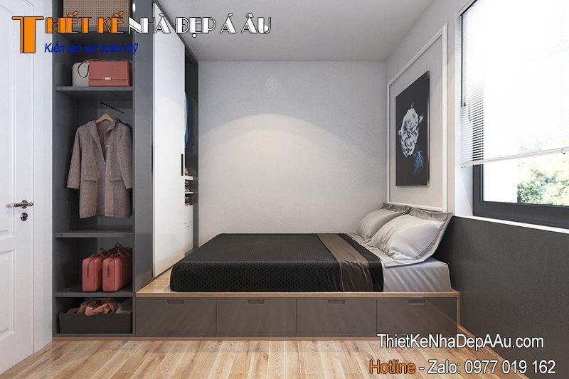 thiết kế nội thất phòng ngủ 7m2