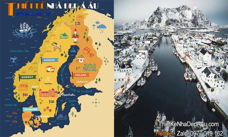 Bản đồ địa lý vùng đất Bắc Âu