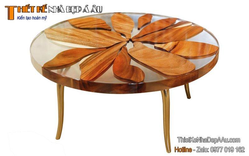 bàn trà chất liệu acrylic