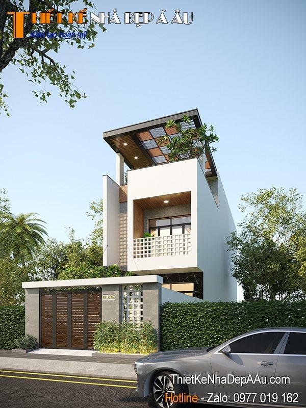 thiết kế nhà phố mặt tiền 7m