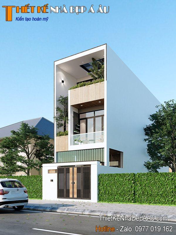 mẫu nhà phố đẹp hiện đại không gian mở tối ưu