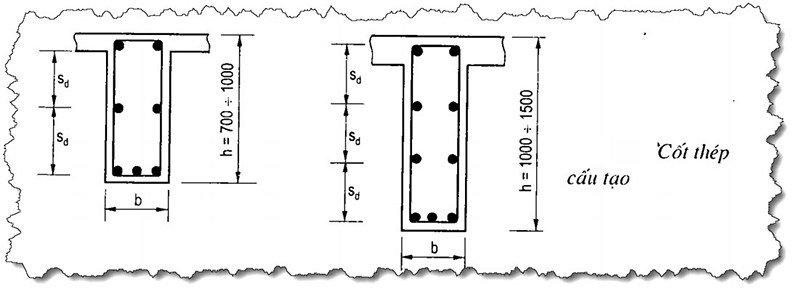 Bản vẽ kỹ thuật kết cấu cốt thép dọc