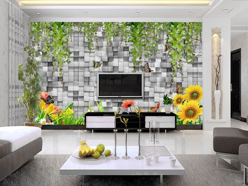 Trang trí tường nhà bằng giấy dán tường