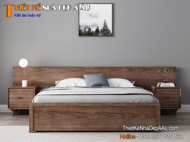 giường ngủ gỗ HDF an cường