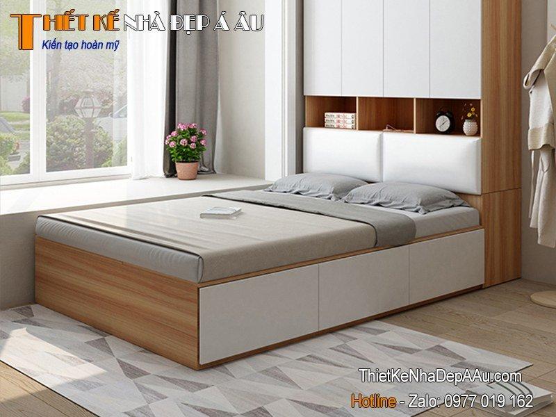 giường ngủ chất liệu gỗ tự nhiên