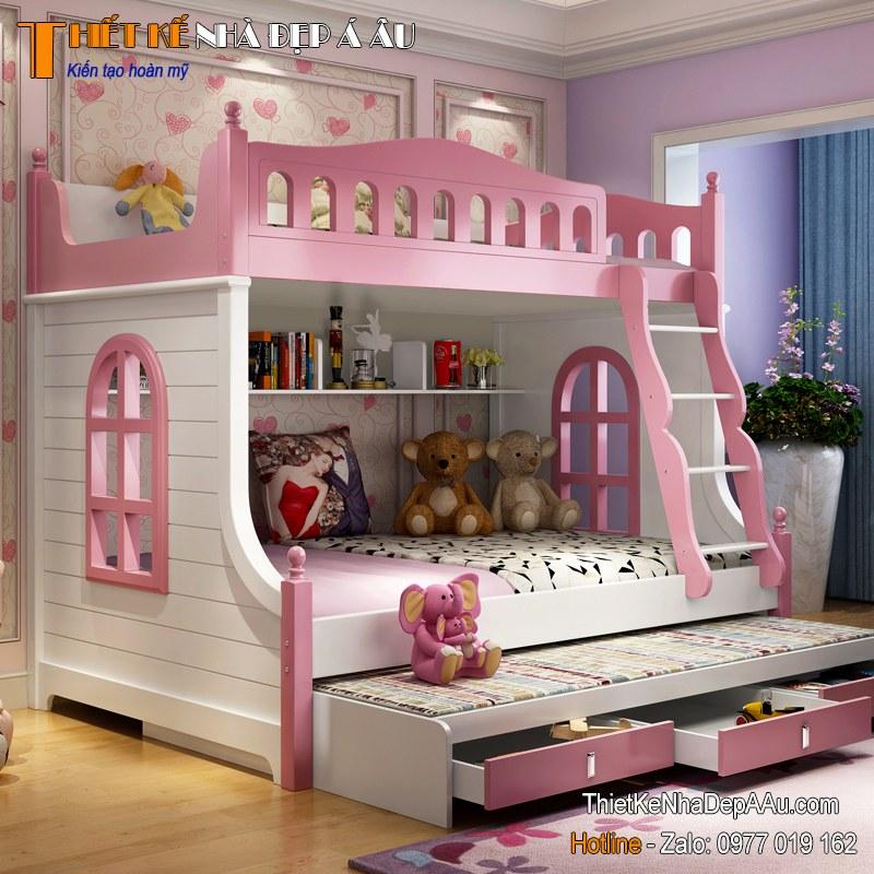 giường tầng danh cho bé gái