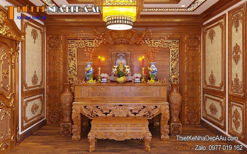 bàn thờ gỗ sang trọng