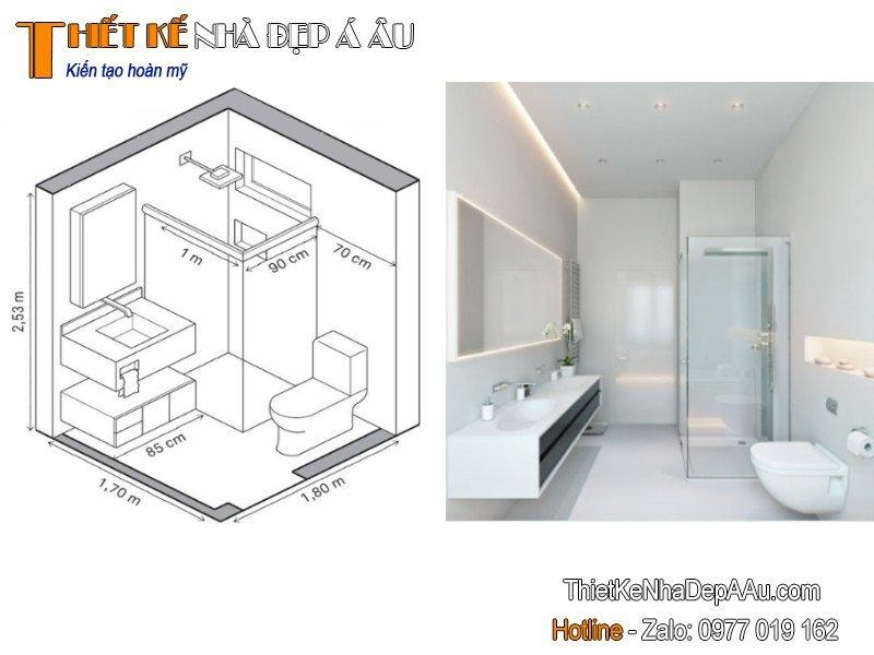 kích thước nhà vệ sinh