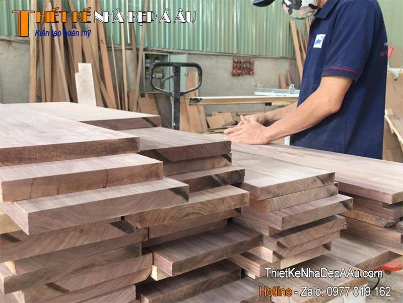 Quy trình sản xuất gỗ tự nhiên hoàn tất