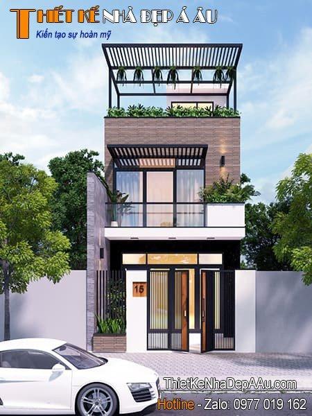 Bản vẽ kiến trúc nhà hiện đại