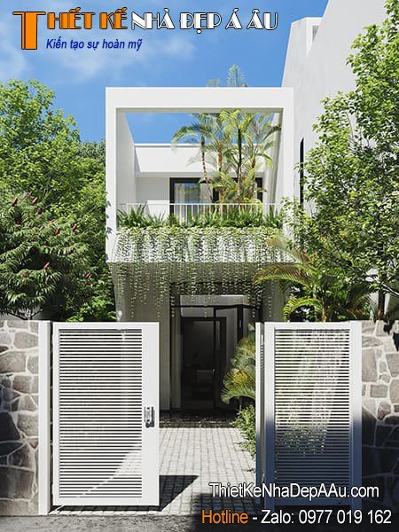 Ngôi nhà đẹp trồng nhiều cây xanh