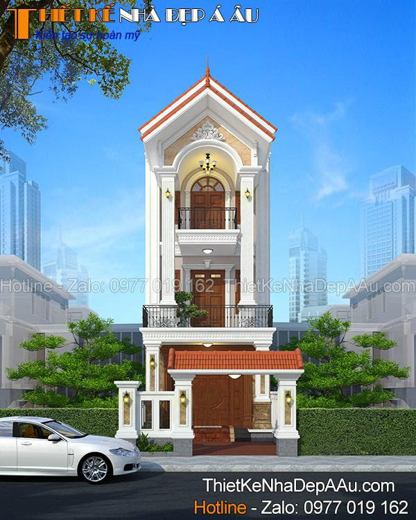 Mẫu nhà ở mặt tiền 5m kiến trúc tân cổ điển