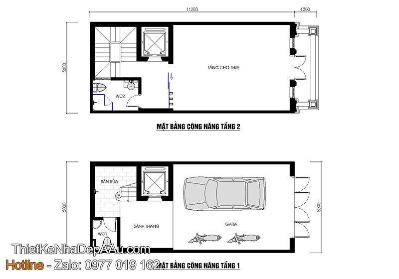 mặt bằng nhà ở kết hợp cho thuê