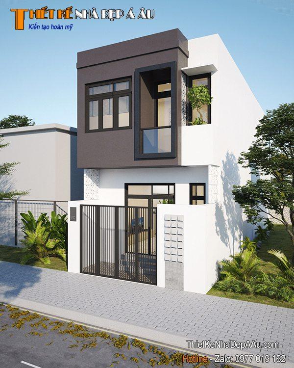 nhà 2 tầng 5x18m