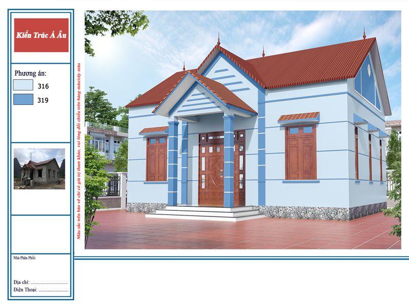 nhà đẹp sơn màu hợp phong thủy