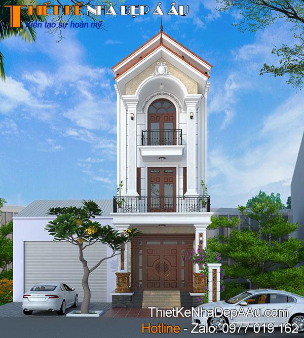 thiết kế nhà phố tân cổ điển đẹp