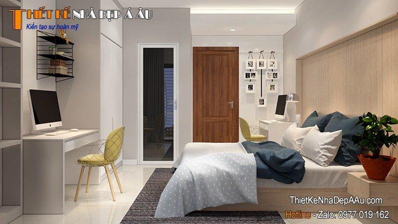 thiết kế nội thất phòng ngủ đẹp nhỏ xinh