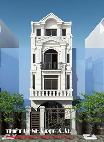 Thiết kế nhà kiến trúc Pháp