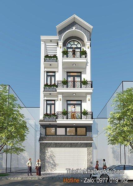 Mẫu nhà phố kiến trúc Pháp