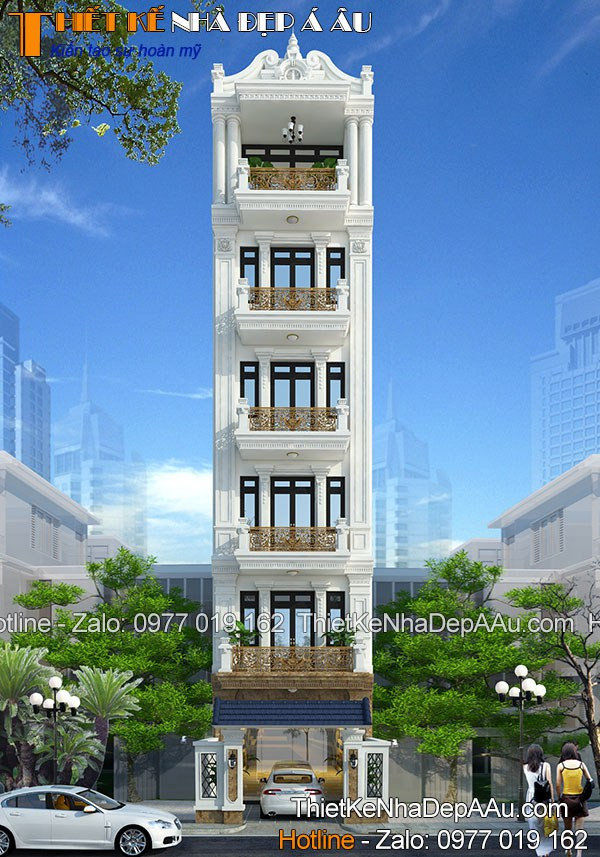 Bản vẽ thiết kế nhà ở kết hợp kinh doanh kiến trúc Pháp
