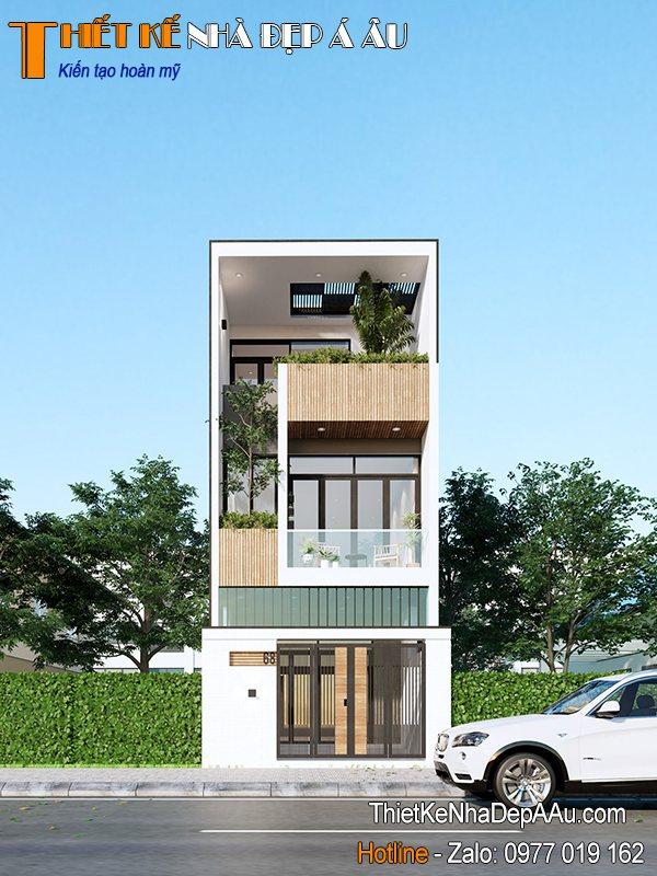 thiết kế nhà phố hiện đai