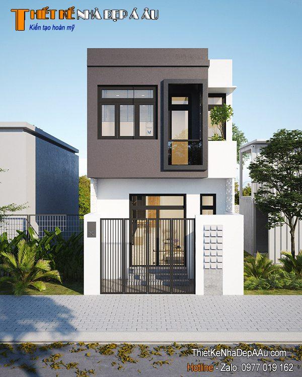 Nhà lô phố 2 tầng đơn giản