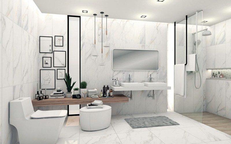 Diện tích nhà vệ sinh lớn sử dụng thoải mái