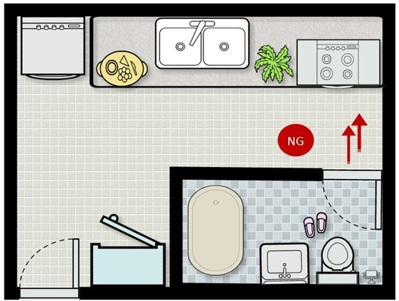 phong thủy nhà bếp cách bố trí vị trí trong sơ đồ nhà