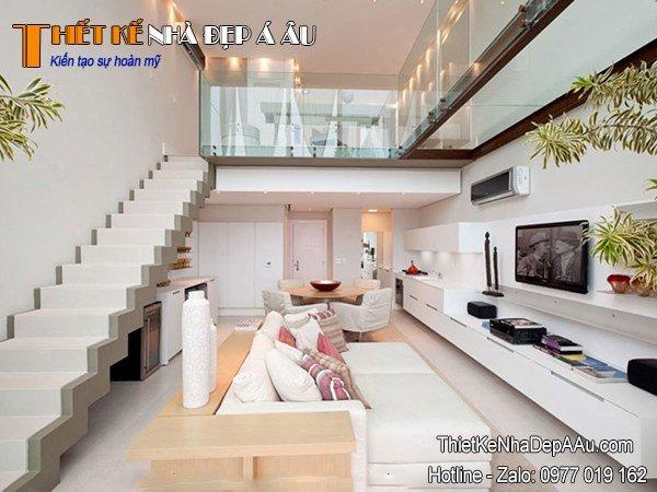 Thiết kế nội thất nhà có gác lửng
