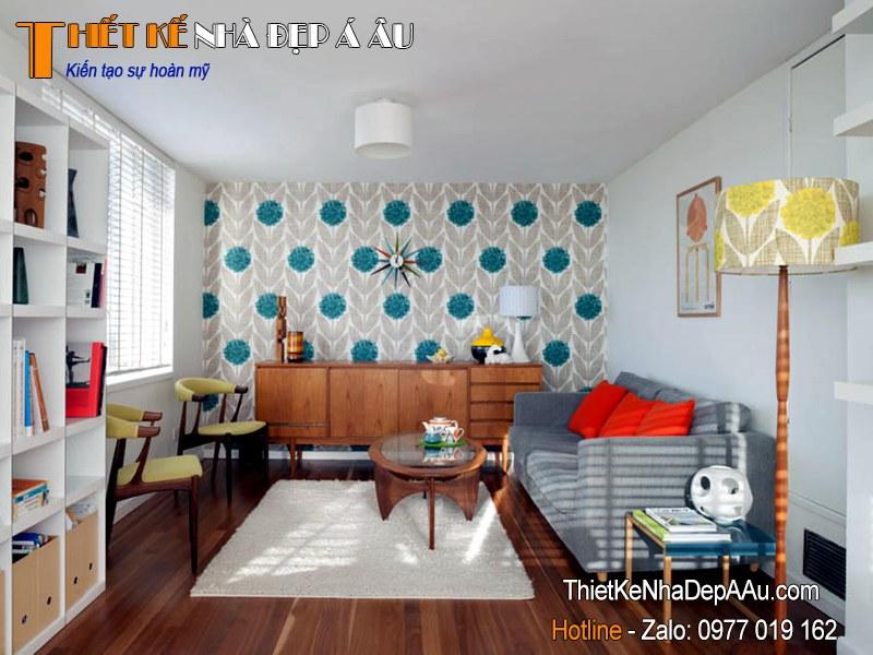 trang trí nội thất phòng khách đơn giản gần gũi