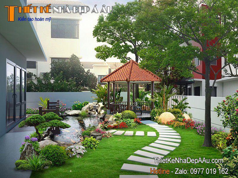 trang trí tiểu cảnh sân vườn đẹp