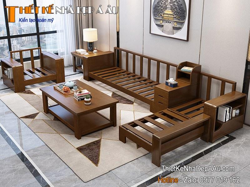Khung bộ sofa gỗ tự nhiên