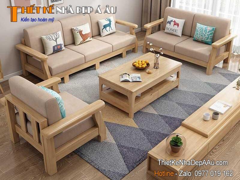 Sofa đẹp nội thất gỗ tự nhiên