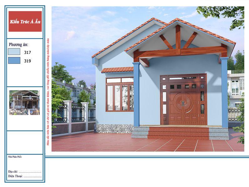 sơn nhà màu xanh đẹp