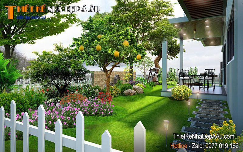 trang trí sân vườn trước nhà