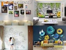 trang trí tường nhà phòng khách