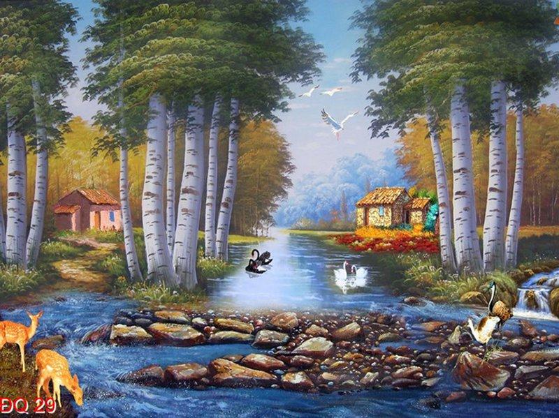 khung cảnh quê hương bình yên